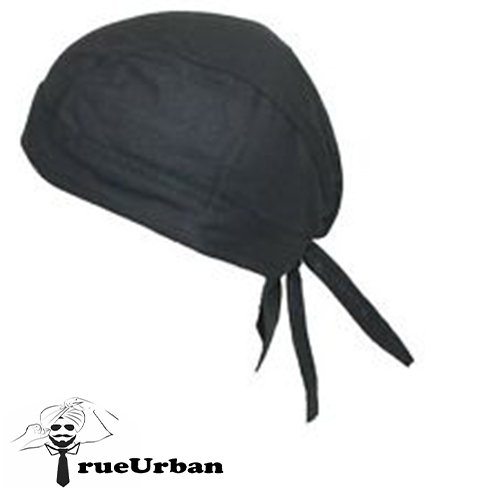 TrueUrban 2 String Cotton Patka/ Turban with Flap (Black ,Pack of 1)