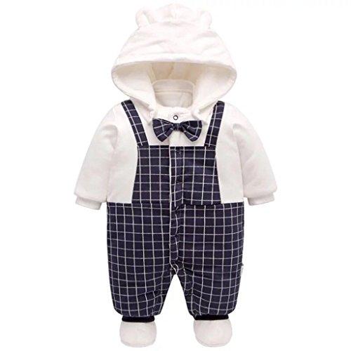 Baby Overall Mit Kapuze Füßlinge Strampler Schneeanzüge Karikatur Jumpsuit Unisex Winter Kleidungsset, 6-9 Monate - Füßlinge-set