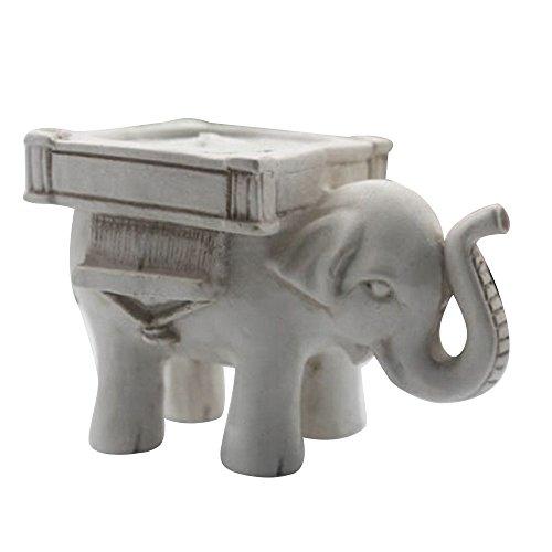 Bluelans Porte-bougie éléphant porte-chance Photophore