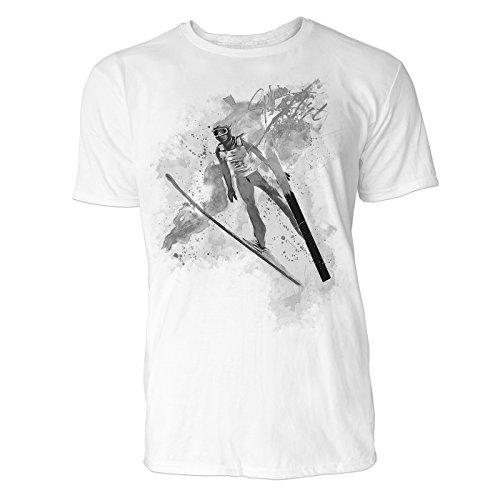 us Art ® Herren T Shirt ( Schwarz Weiss ) Sportshirt Baumwolle (Kleinkind Flug Anzug)