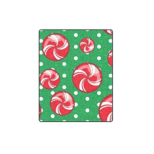 Yushg Navidad Bastón de Caramelo Dulces Dulces Personalizado Invierno Piel Liviana Cómoda...