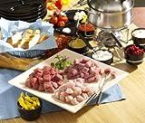 3 kg Fleisch Fondue geschnitten - für 10 Personen - Gemisch: Rind/Schwein/Pute - gut zum eingefrieren geeignet.