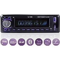 Ironpeas Autoradio mit Freisprecheinrichtung Bluetooth/USB / SD/AUX / FM, Single Din Version, Autoradio, MP3-Player, Fernbedienung enthalten