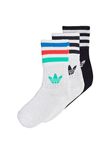 Adidas cd6069Socken Kinder S Blanc/Noir/Hi-Res Green (Kinder Socken Adidas)