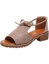 Damen Retro Mokassins Schuhe Slip-On Bequem Schuhe Halbschuhe Freizeit Flache Schuhe Schwarz(40) Yiiquan LGmcHdg0