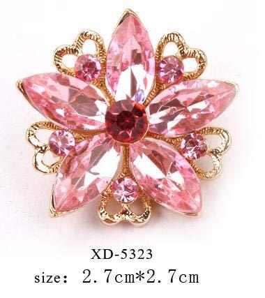vergoldete Pinke Kristall Strasssteine   kleine süße Reversnadel Brosche für Frauen oder Mädchen Bekleidungszubehör