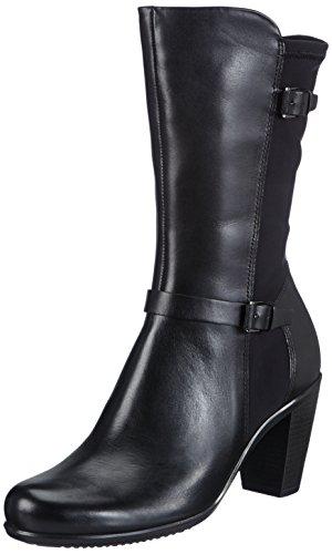 Ecco - Ecco Touch 75b, Stivali classici imbottiti a mezza gamba Donna Nero (Schwarz (BLACK/BLACK 51707))