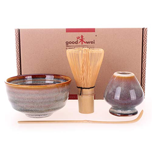 Goodwei Japanisches Matcha-Set mit Besenhalter, 4-teilig (Uji)