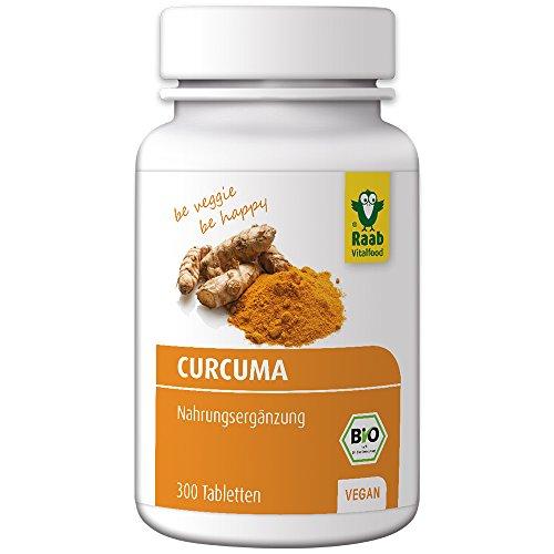 Raab Vitalfood Curcuma - 300 Tabletten Bio, vegan