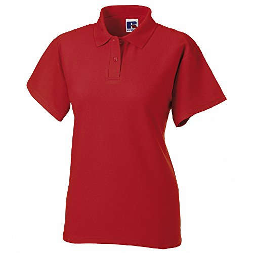 Russell Athletic - Polo - Femme Rouge - Rouge brillant