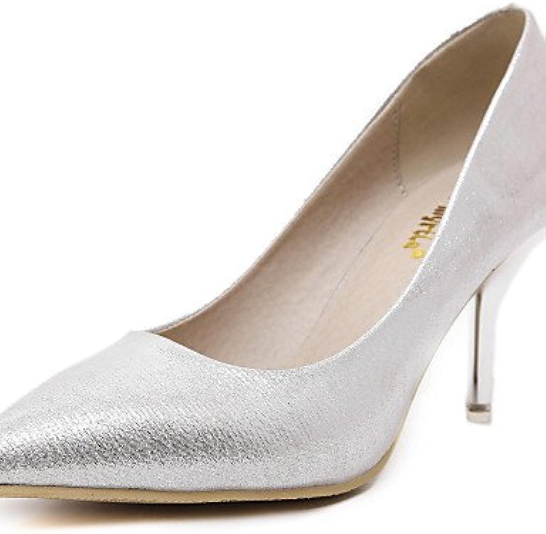 La Mujer Señaló Los Tacones Stiletto Toe Bombas Para Bodas/Parte &Amp; Por La Noche / Dresswedding Zapatos De...