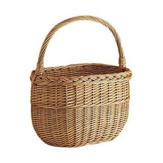 Aubry Gaspard Buff Wicker Inflatable Basket