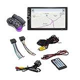 Candyberry Bluetooth Touch Screen HD da 7 Pollici in Dash Dvd 12V 2 DIN Radio Stereo per Auto FM Funzione AUX USB MP3 MP5 Supporto per Lettore TF