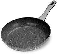 Royalford Fry Pan with Durable Marble Coating - Induction Safe Non-Stick Saute Pan