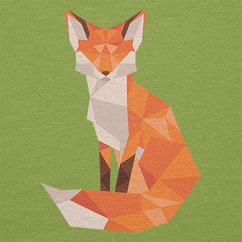 TEXLAB - Polygon Fuchs - Damen T-Shirt Kiwi