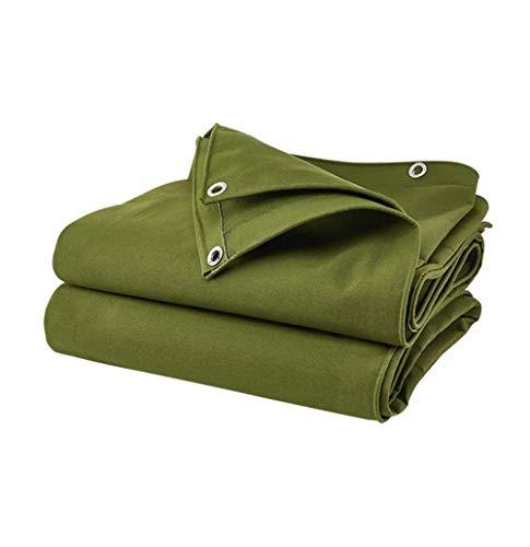 MSF Zeltplanen Schwere Plane, doppeltes industrielles Polyester-im Freien kampierende Wasserdichte Plane UV-geschützter Swimmingpool-Schatten-Zelt g 550g / m², Stärke 0.9mm, grün (größe : 5x7m)