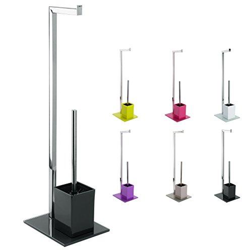 Toilettenbürstenständer Toilettenbürste Rollenhalter WC Garnitur  Toilettenpapierhalter Mit Glas Standfuß ...