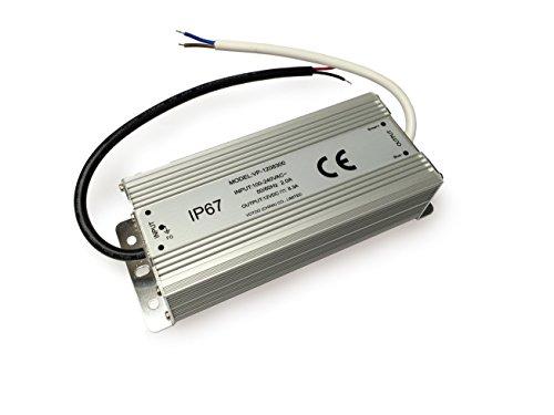 12V, 8,33A (100W) Netzteil Trafo für LED Streifen Stripes, LED Band, Modellbau, Haushalt - mit 12 V Ausgang (wasserdicht IP67)