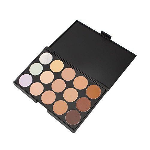 Boolavard® 15 Colors Contour Face Cream Makeup Concealer Palette + Powder Sponge Puff