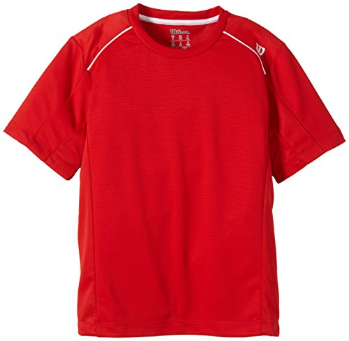 Wilson Boys  Tennis Clothing B NVISION Elite Crew Multi-Coloured Red White  Size d42d4c0e1600