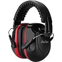 ProCase Casco Antiruido, Protector Auditivo SNR 34 dB Aislante de Ruido Profesional, Casco Insonorizado Protector de Oído para Campo de Disparo, Caza -Rojo