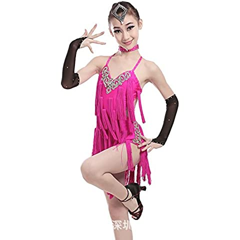 Ballo latino adulto vestito ballo latino costumi nappe prestazioni abbigliamento