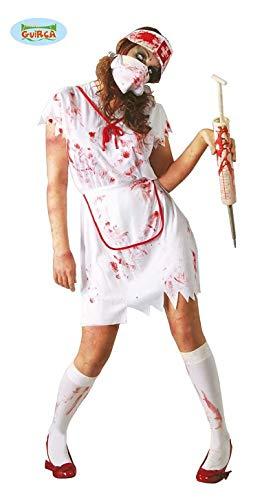 Krankenschwester Zombie Kostüm blutiges Halloween Zombiekostüm für Damen Gr. M-L, ()