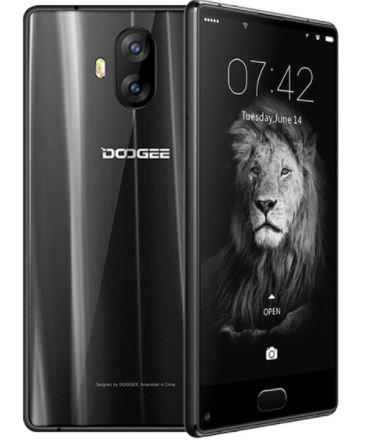 DOOGEE Mix Lite - schermo da 5,5 pollici senza cornice HD Android 7.0 4G smartphone, Quad Core 1.45GHz da 2 GB + 16 GB, Fotocamera triple (8 MP + 13 MP + 13 MP) - Nero