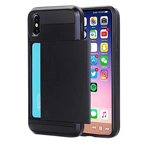 QINPIN Für iPhone XR 6,1/XS 5.88/XS MAX 6.5 Zoll Rüstung Mit Kartenfach Brieftasche Halter Slot...