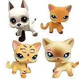 Best Cat Toy Evers - 4 pcs LPS Toy Pet Short Hair Cat Review