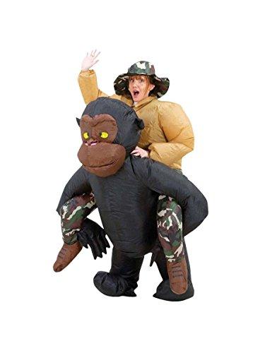 Costume scimmia gonfiabile per adulto Taglia Unica