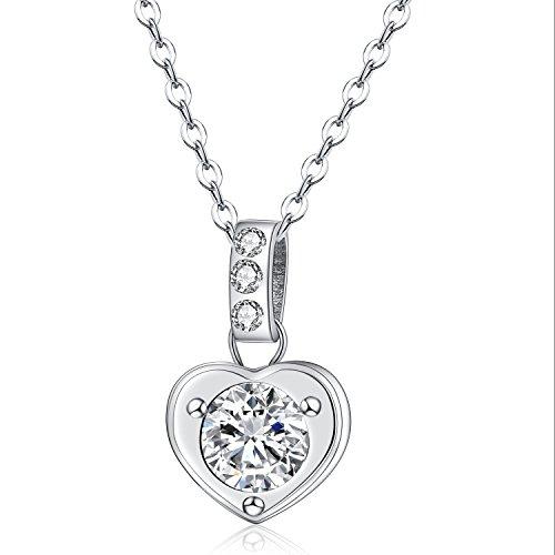 Bliqniq [Geschenk Zum Muttertag] Edelstahl Halskette Damen Frauen Silber mit Anhänger Zirkonia mit Gravur Mama, Ich Liebe Dich Nie verfärben