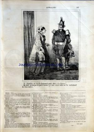 CHARIVARI (LE) du 24/10/1864 - LOUIS LEROY - LA SEMAINE DE LA BOURSE