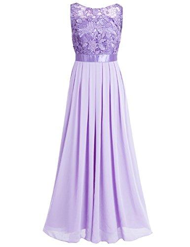 iiniim Damen Elegant Abendkleid Brautjungfer Cocktailkleid Chiffon Faltenrock Langes Kleid Festlich...