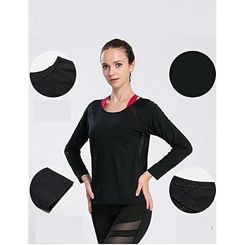 XJoel mujeres atractivas del cordón del chaleco camiseta de la camiseta de la blusa del tanque ocasionales de la manera tapas mangas casuales entrenamiento blusa de la camisa camiseta Negro M