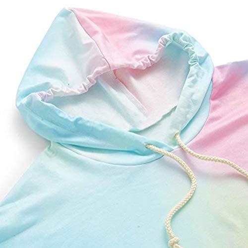 SEWORLD Women Hoodie Printed Patchwork Sweatshirt Long Sleeve Pullover Tops Blouse