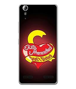 PrintVisa Designer Back Case Cover for Lenovo A6000 Plus :: Lenovo A6000+ :: Lenovo A6000 (Heart Love Newly Married Couple)