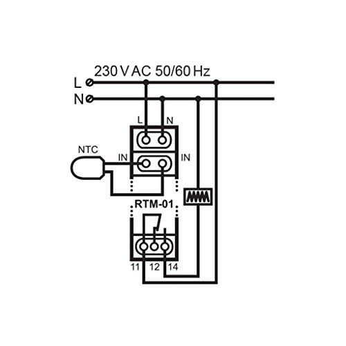 EXTA Temperaturregler, 1 Stück, RTM- 01 - 5
