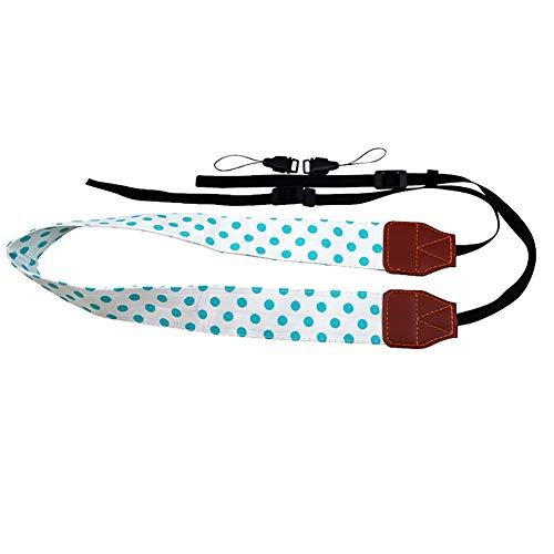 YUnnuopromi Universal Wide Polka Dot Print SLR/DSLR-Kamera-Strap Shoulder Neck Sling Belt Grün - Canon Wide Neck Strap