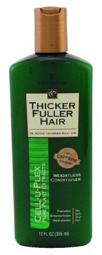 Thicker Fuller Hair Après-shampooing épaississant avec Cell-U-Plex - Formule ultra légère avancée pour cheveux fins, clairsemés, sans vie - 355 ml (Lot de 3)
