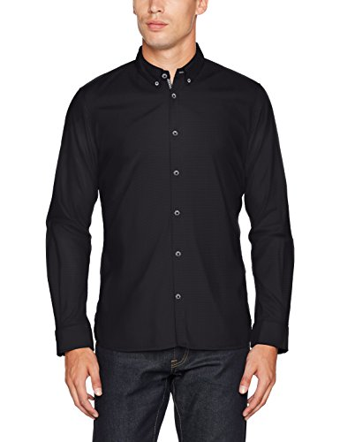 TOM TAILOR Herren Freizeithemd Floyd Soft Print Mix Shirt, Schwarz (Black 2999), XXX-Large