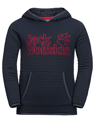 Jack Wolfskin Kinder Modesto Hoody Kids Warmer Fleecepullover, Night Blue, 128