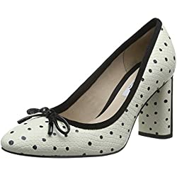 Clarks Women's Idamarie Faye White Leather Pumps & Peeptoes - 6 UK/India (39.5 EU)