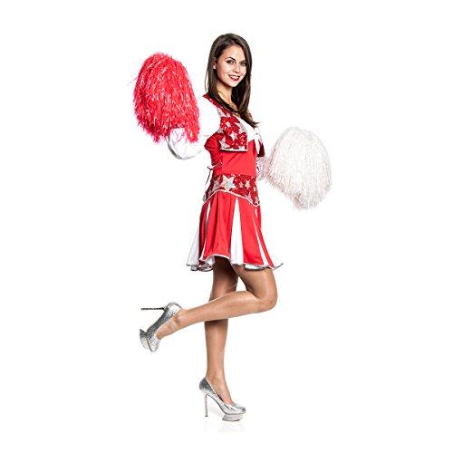 Cheerleader Knappen Kostüm - Kostümplanet® Cheerleader-Kostüm Damen Faschingskostüm sexy Kostüm Uniform Größe 42