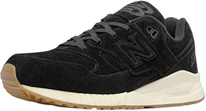 New Balance 530 Schuhe Herren Echtleder Sneaker Turnschuhe Schwarz M530PRA
