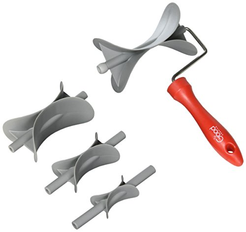 Rolling Teig cutter- rund Roller Schneide w 4Austauschbare Gebäck Größe blades- schneidet alle Gebäck - Rolling Cookie-cutter