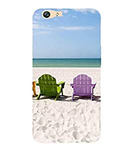 ifasho Designer Back Case Cover for Oppo F1s (Beach Flip Flops For Women Beach Hat Scenary Posters Beach Inner Sea Shells)