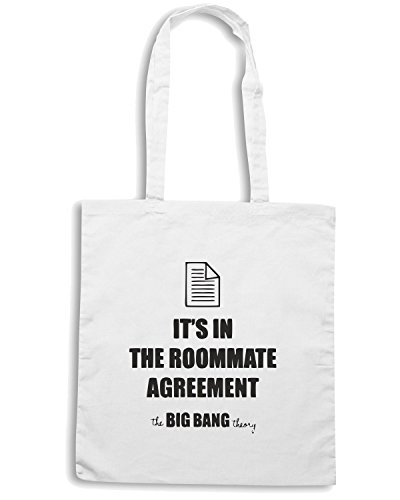 T-Shirtshock - Borsa Shopping OLDENG00020 bbt roommate agreement Bianco