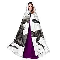 Yushg Scorpion Contours Are Poisonous Woman Hooded Cloak Cloak Cape For Boys 59inch For Christmas Halloween Cosplay Costumes