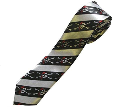 Schwarze (Bandana Skeletons Tie) Krawatte; Piraten (Kostüme Piraten Plus Größe)